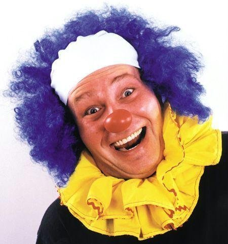 Costumes For All Occasions Ca23Bu Clown Wig Bald Curly Blue
