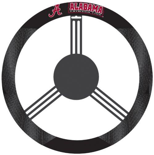NCAA Alabama Crimson Tide Polysuede Steering Wheel Cover (Steering Wheel Cover Alabama compare prices)
