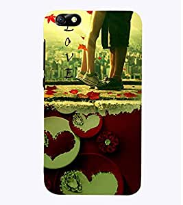 PrintVisa Romantic Love Couple 3D Hard Polycarbonate Designer Back Case Cover for Huawei Honor 4X