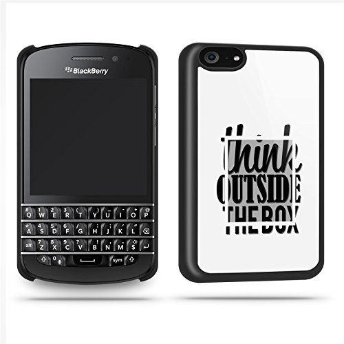 Think Outside The Box Quote Funny Cool Phone Case Shell For Blackberry Q10 - Black