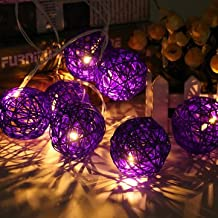 20 LED Rattan Ball String Light Home Garden Fairy Colorful Lamp Wedding Party Xmas Décor-Purple