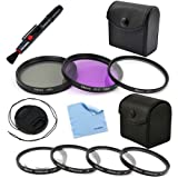 GTMax 58mm Lens Filter Set + Lens Cap + Lens Pen +Cleaning Cloth for Canon Digital EOS 650D ,600D, EOS 1100D, EOS 500D, EOS 550D, EOS 1000D, EOS 450D,EOS 400D ï¼Nikon D5200,D3100,D800,D5100,D90,D300 Digital SLR Cameras or Canon 18-55mm, 75-300mm, 50mm 1