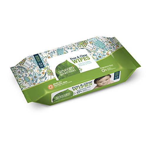 Seventh Generation Thick & soft Free and Clear Baby Wipes Refill Pack