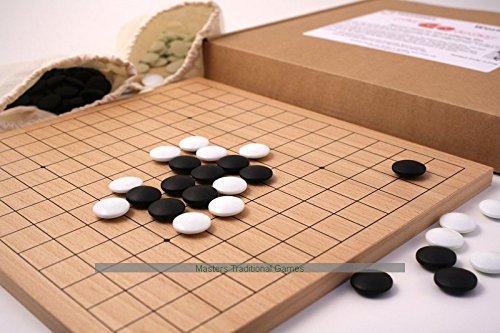 Mini Go set (9 x 9 and 13 x 13 Board, Plastic Go Stones) (9x9 Go Board compare prices)
