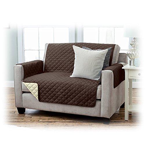 JEMIDI-Schonbezug-fr-Sofas-2-Sitzer-Sessel-Schoner-Sofabezug-Sofaschonbezug-Sofa-berwurf-Sesselschoner-Sofaberwurf-191cm-x-224-cm-2-Sitzer-BraunBeige