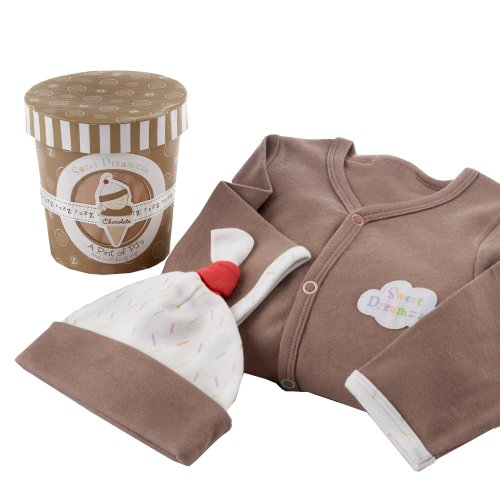 Baby Aspen Sweet Dreamzzz Pint of PJ's Sleep Time Gift Set - Chocolate, 0-6 Months