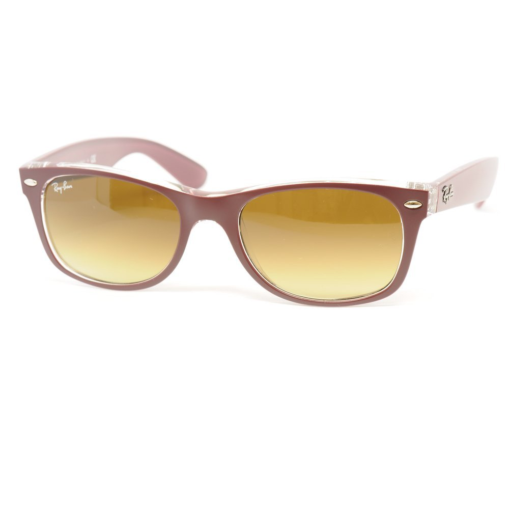 все цены на Ray Ban New Wayfarer Color Mix RB2132 Sunglasses Red Transparent Frame Brown Gradient Lenses онлайн