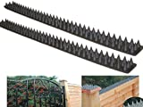 4.4M PACK OF 9 SECURITY FENCE WALL SPIKES CAT REPELLER DETERRENT BLACK INTRUDER REPELLENT CAN ALSO BE USED FOR GATES SHEDS AND LEDGES