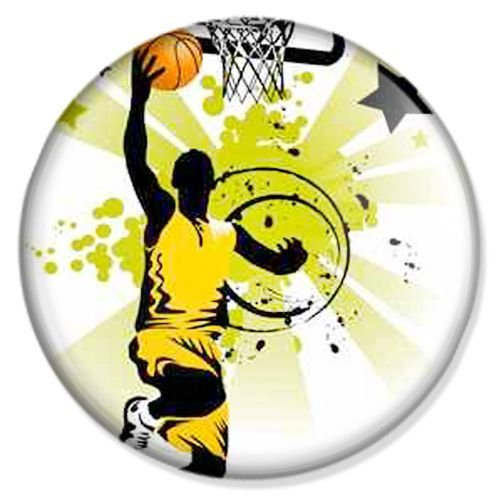 Button Basketball Lay Up - Sport Badge, Sport Pin, Sport Anstecker, Sport Button, Sport Ansteckpin