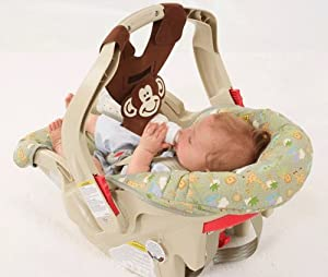 Brown Monkey Baby Bottle Holder for Hands Free Bottle Feeding by Bebe Bottle Sling, LLC