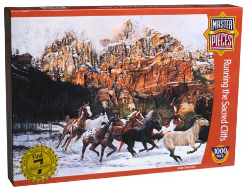 Running the Sacred Cliff Jigsaw Puzzle 1000pc