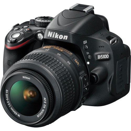 Nikon D5100 16.2MP CMOS Digital SLR Camera with 18-55mm f/3.5-5.6 AF-S DX VR Nikkor Zoom Lens