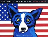 Red, White, and Blue Dog: Note Cards (1584792124) by Rodrigue, George