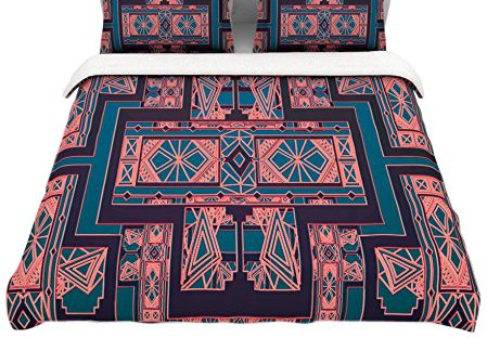 Coral Duvet Cover Queen front-1035049