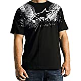 Alpinestars Sore Men's Short-Sleeve Race Wear T-Shirt/Tee - Color: Black, Size: Small