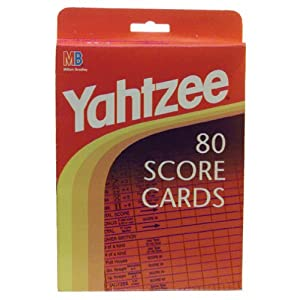 Yahtzee score sheets!