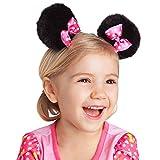Disney Minnie Mouse Kids Girl's Pink Bow Ear Hair Clips