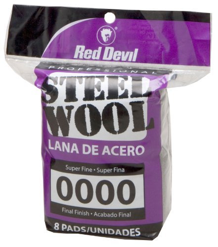 Red Devil 0320 Steel Wool, 0000 Super Fine, 8 Pads (Liberon Steel Wool 0000 compare prices)