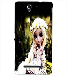 PrintDhaba Cute Doll D-1042 Back Case Cover for SONY XPERIA C3 (Multi-Coloured)