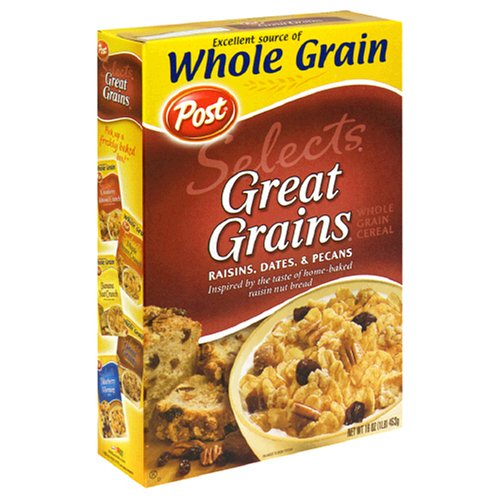 Buy Post Great Grains Raisin-Date-Pecan Cereal, 16 Ounce Box (Pack of 4) (Post, Health & Personal Care, Products, Food & Snacks, Breakfast Foods, Cereals)