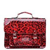 Womens Ladies Girls Vintage Animal Leopard Print Satchel School Messenger Fashion Shoulder Bags - R18