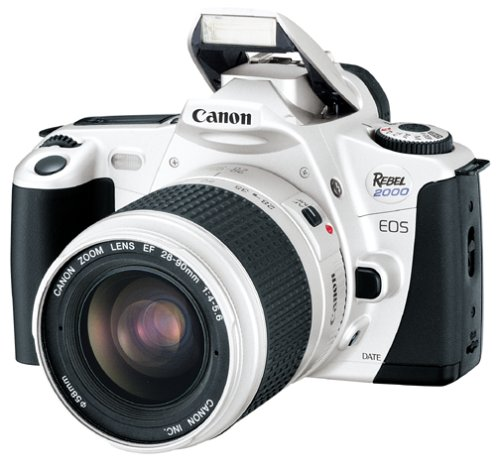Best Buy! Canon EOS Rebel 2000 Silver Date 35mm SLR Camera Deluxe Kit with 28-90mm Lens