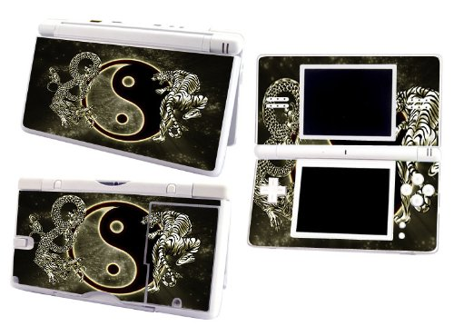 Bundle Monster Nintendo Ndsl Dsl Nds Ds Lite Vinyl Game Skin Case Art Decal Cover Sticker Protector Accessories - Ying Yang Dragon Tiger