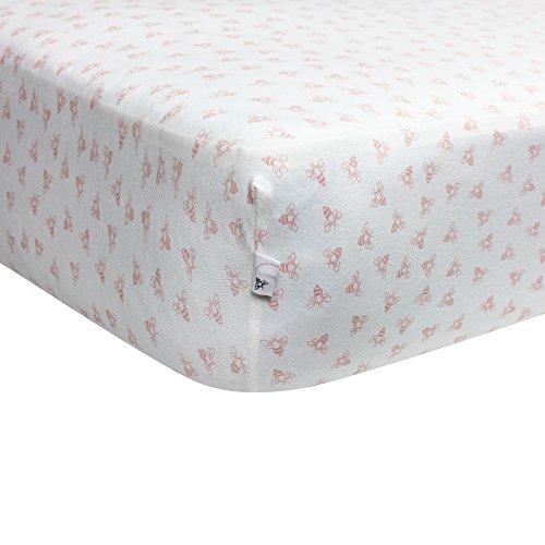 Burt's Bees Baby Organic Honeybee Print Crib Sheet, Blossom