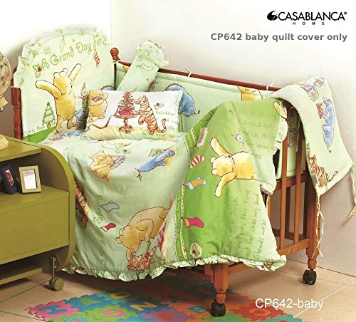 "Disney Classic Winnie The Pooh Cp642 Baby Quilt Cover (35"" X 48"") (330 Threads / 10Cm Squared) 100% Cotton front-888994"