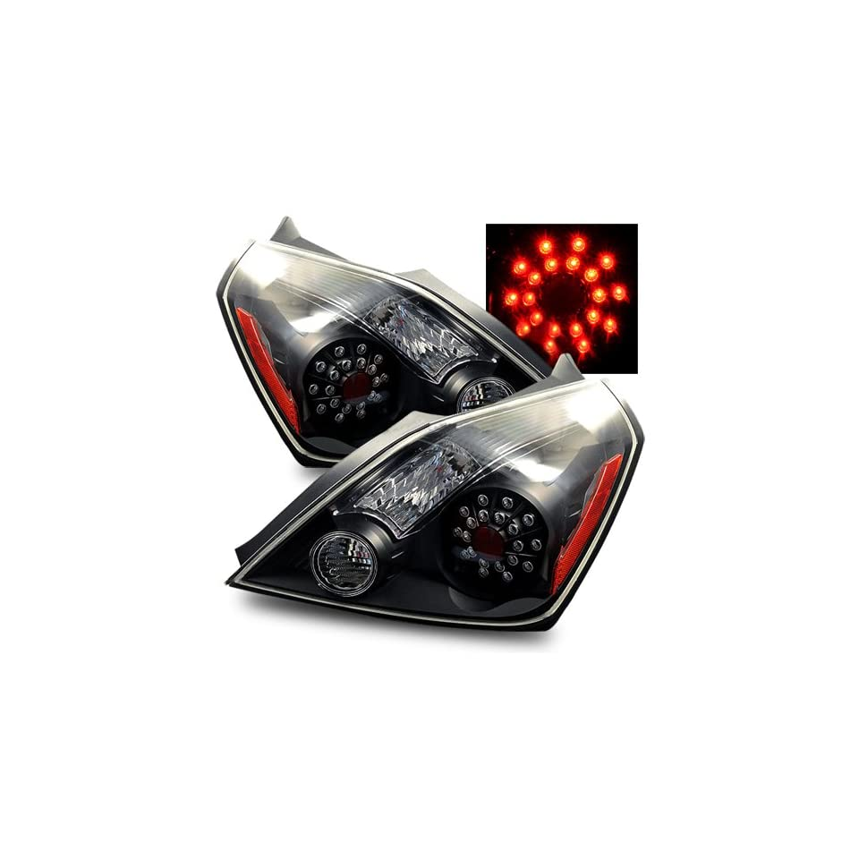 08 11 Nissan Altima Coupe Black LED Tail Lights