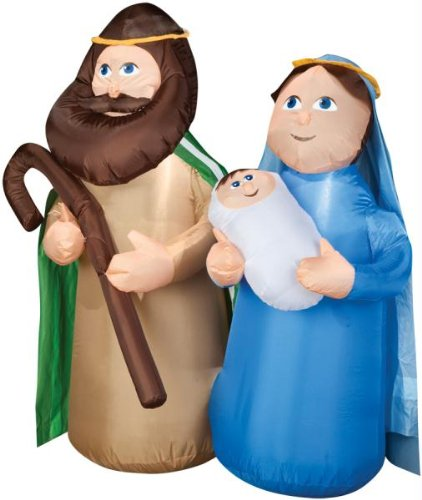 [Holy Family Airblown Christmas Decoration] (Empty Nester Costume)
