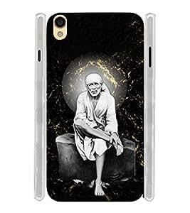 Lord Shirdi Sai Baba Bagwan Ji Soft Silicon Rubberized Back Case Cover for Oppo F1 Plus