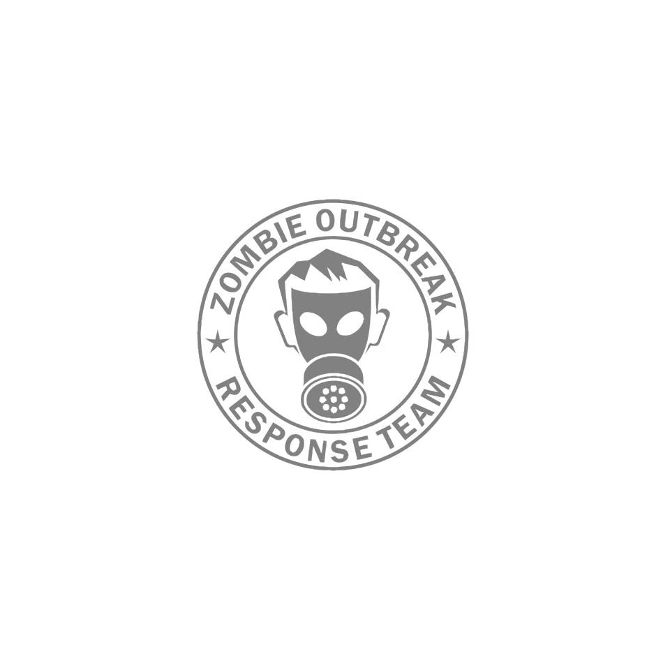 Zombie Outbreak Response Team IKON GAS MASK Design   5 SILVER   Vinyl Decal Window Sticker by Ikon Sign