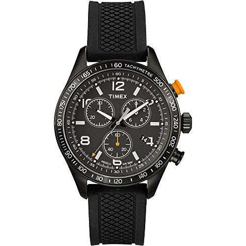 Timex T2P043 Orologio Cronografo da Polso da Uomo, Silicone, Nero