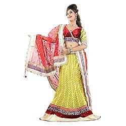 Aagaman Fashions Net Lehenga Choli (TSSF10007_Yellow)