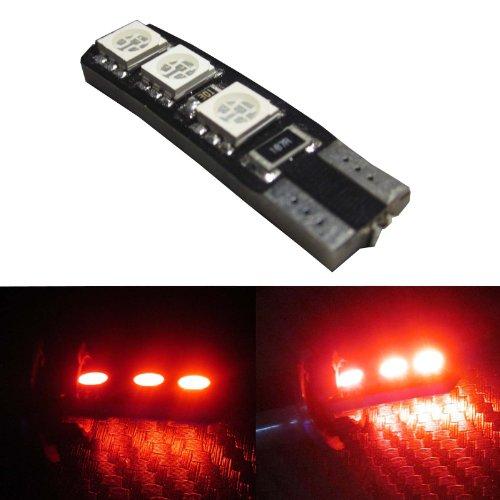 Lemonbest® Bright T10 6 Smd Leds Lamps 12V Dc Strip Light License Plate Light (Red)