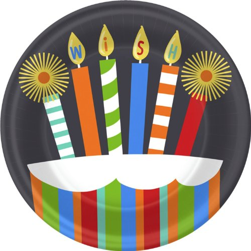 Candles and Wishes Dessert Plates-8 count