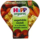 Hipp Organic Vegetable Ravioli in Chunky Tomato Sauce Tray Meal from 12 Months 230 g (Pack of 5)