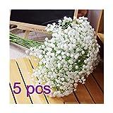 ANKKO Kunstblumen Weiß Gypsophila Blumen Zuhause Party Decor Hochzeits Blumen