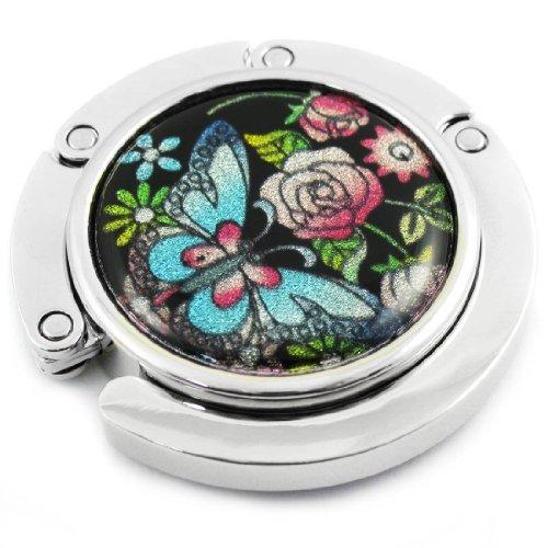 kilofly Handbag Hook 3scelte * * * *, pieghevole, colore: viola, con sacchetto regalo s3