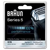 Braun Series 5 Combi 51s Foil And Cutter Replacement Pack (Formerly 8000 360 Complete Or Activator) ~ Braun