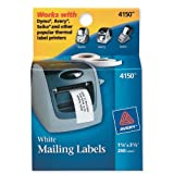 Avery Multi-Purpose Labels for Label Printers, 1.125 x 3.5 Inches, White, Two Rolls of 130 (04150)