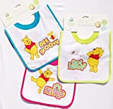 Winnie-the-Pooh Lined Pull-Over Baby Bib - Smile, Bee Groovy & Got Hunny? (Pack of 3)