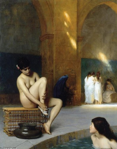 Poster Giclee-Druck auf Leinwand - 10 x 13 inches / 25 x 33 CM - Jean Léon Gérôme - Nackte Frauen-