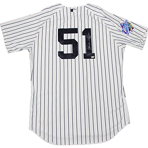 Bernie Williams Signed New York Yankees Authentic Pinstripe Jersey W/ 1999 Patch (Mlb Auth) front-1070462