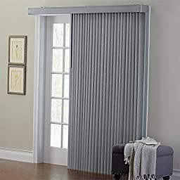 Brylanehome Embossed Vertical Blinds (Grey,66\