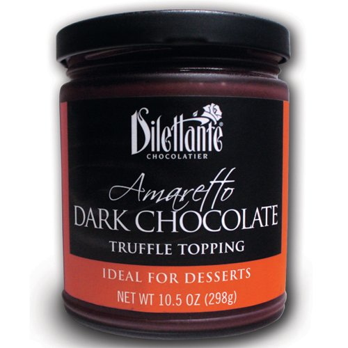 Amaretto Dark Chocolate Truffle Topping - 10.5Oz Jar - By Dilettante (3 Pack)
