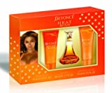 Heat Rush by Beyonce Eau de Toilette Spray 30ml, Gold Shimmering Body Cream 75ml & Energizing Shower Gel 75ml