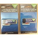 2-Pack of E-Flite 500mAh 1S 3.7V 25C LiPo Battery Lipos for Blade