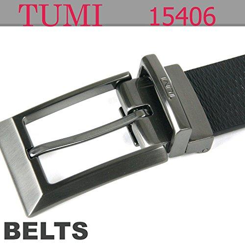 (トゥミ) TUMI リバーシブル・テクスチャー・ベベル・エッジ・バックル 15406 ベルト ブラック[並行輸入品]